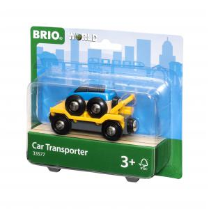 Brio - 33577 - Wagon transport de voiture avec rampe - Thème Voyageur - Age 3 ans + (171383)