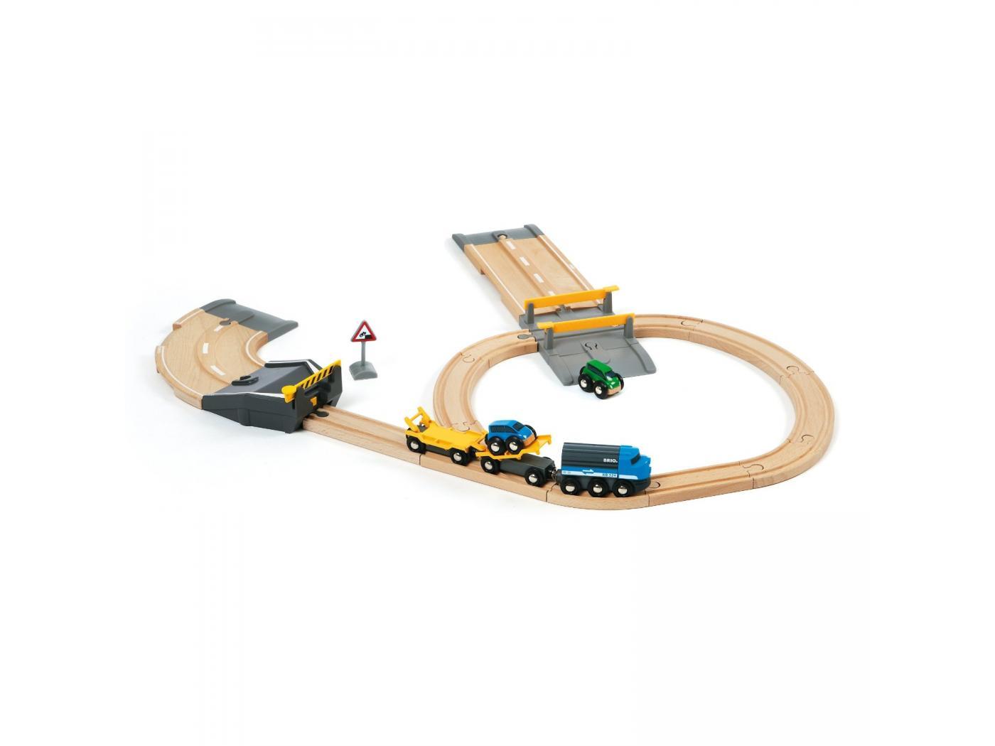brio circuit ferroviaire transport de voitures. Black Bedroom Furniture Sets. Home Design Ideas