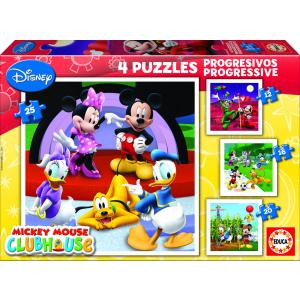 Educa - 15288 - Puzzle progressif Mickey mouse (12-16-20-25 pcs) (172158)