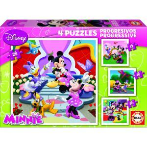 Educa - 15134 - Puzzle progressif Minnie (12-16-20-25 pcs) (172162)