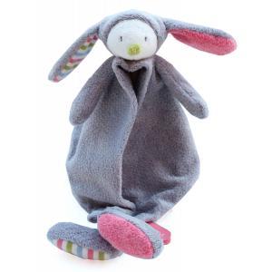Dimpel - 880581 - Doudou lapin Nougat gris & rose (172541)
