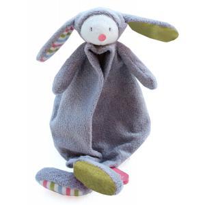 Dimpel - 880776 - Doudou lapin  Nougat gris & vert (172551)