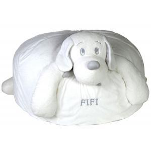 Dimpel - 811369 - Fifi chien coussin - blanc (172703)
