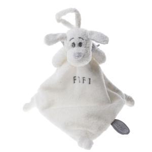 Dimpel - 811330 - Doudou attache-tétine FIFI blanc (172709)