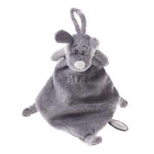 Dimpel - 811356 - Doudou attache-tétine Fifi gris foncé (172747)