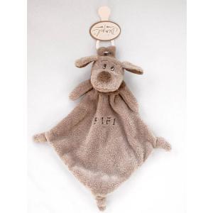 Dimpel - 810342 - Fifi doudou chien attache-tétine - beige-gris (172785)
