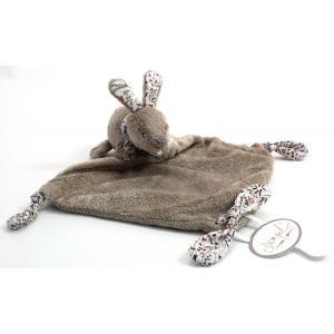 Dimpel - 881400 - Doudou lapin LILA gris beige & blanc (172877)
