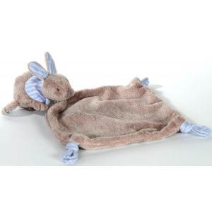 Dimpel - 881595 - Doudou lapin Lila gris beige & bleu (172887)