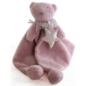 Dimpel - 892164 - Doudou ours LOIC STAR rose (172929)