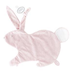 Dimpel - 884403 - Emma Doudou lapin attache tétine - 32 x 25 cm - ROSE-blanc (173193)