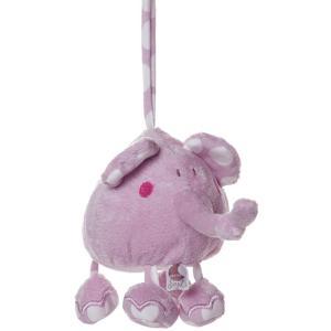Dimpel - 821041 - Peluche éléphant musical BOLLI PP rose (173217)
