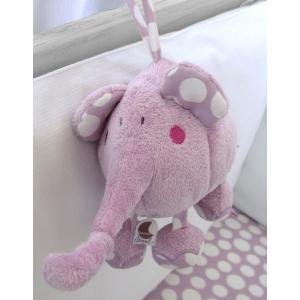Dimpel - 821041 - Doudou musical éléphant Bolli - rose (173217)