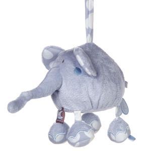 Dimpel - 821548 - Peluche éléphant musical BOLLI PP bleu (173235)
