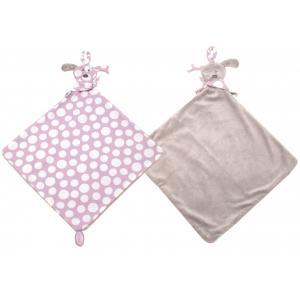Dimpel - 820066 - Doudou mouchoir chien attache-tétine FIFI PP rose & beige gris (173257)