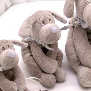 Dimpel - 820521 - Fifi doudou chien 30 cm - beige et bleu (173265)