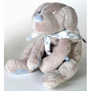 Dimpel - 820534 - Fifi doudou chien 40 cm - beige et bleu (173267)