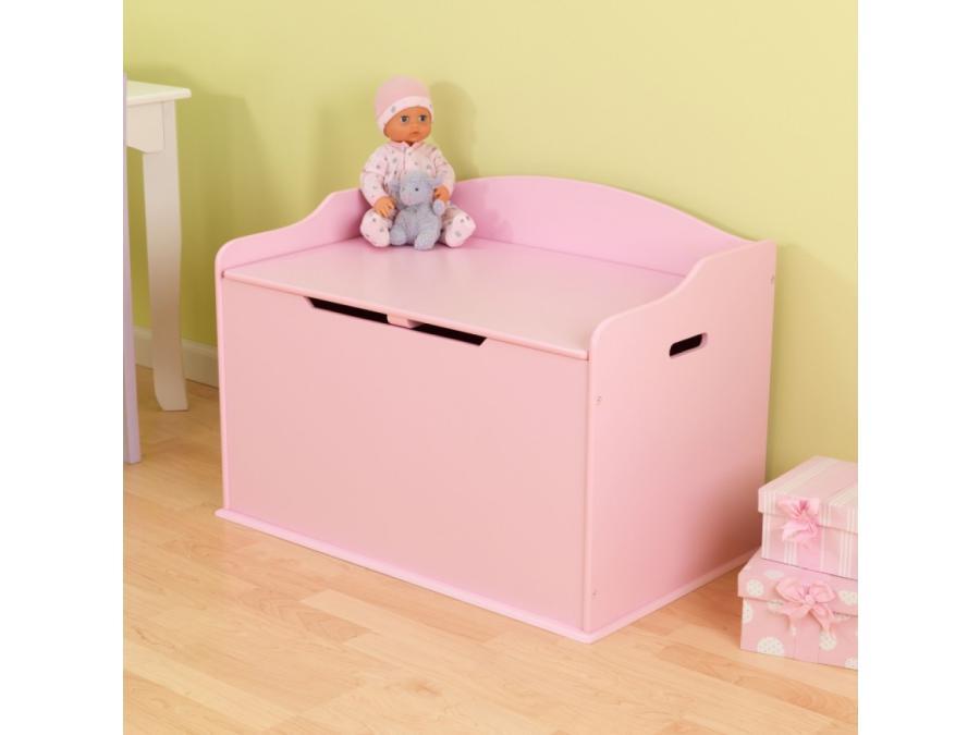 Kidkraft coffre jouets austin couleur rose - Coffre a jouet rose ...