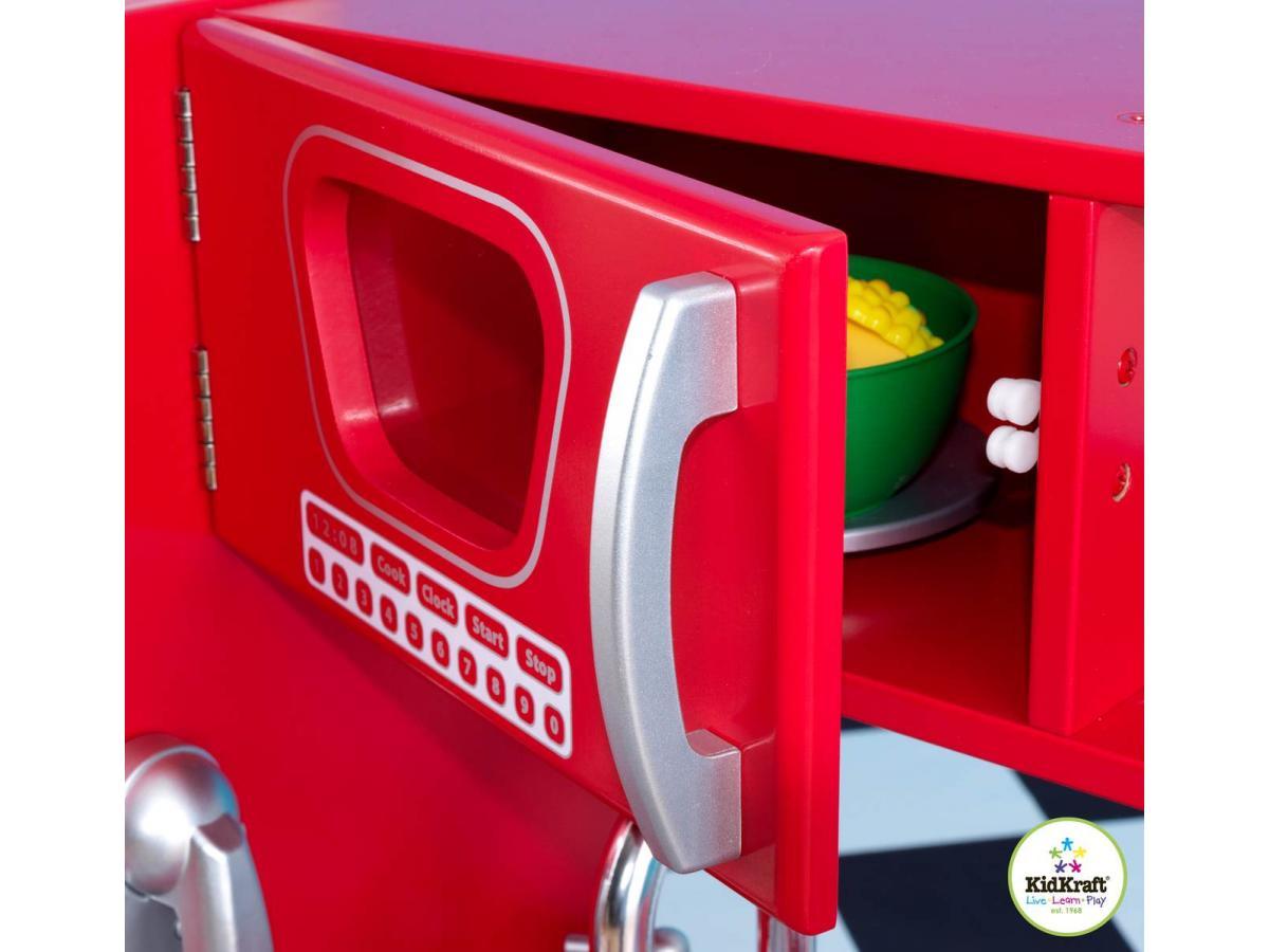 Kidkraft cuisine vintage rouge for Cuisine rouge kidkraft