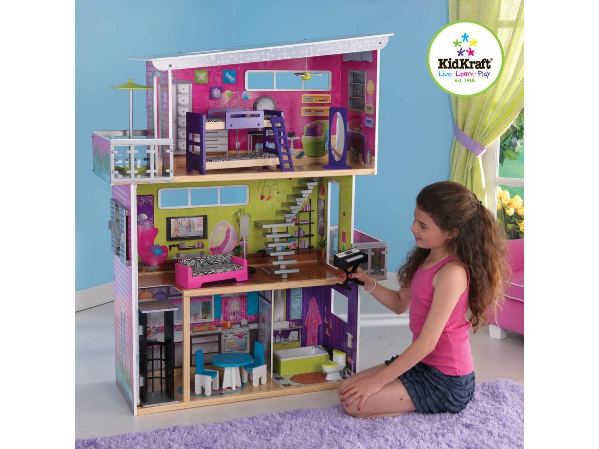kidkraft ma maison de poup es moderne. Black Bedroom Furniture Sets. Home Design Ideas