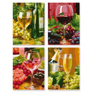 Schipper - 609340610 - Peinture aux numeros - In vino veritas - Cadre 18 x 24 cm (176221)