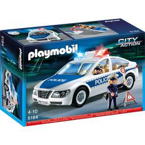 Playmobil - 5184 - Voiture de police avec lumières clignotantes (176749)