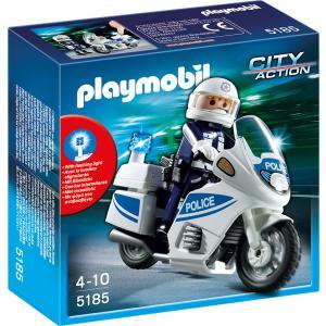Playmobil - 5185 - Motard de police avec lumière clignotante (176751)