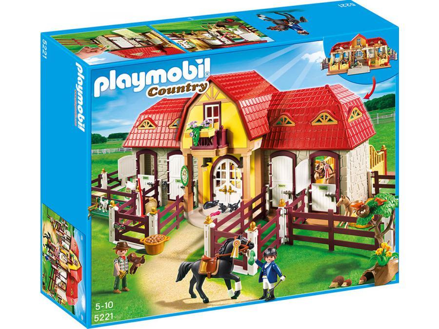 Playmobil haras avec chevaux et enclos - Playmobil haras ...