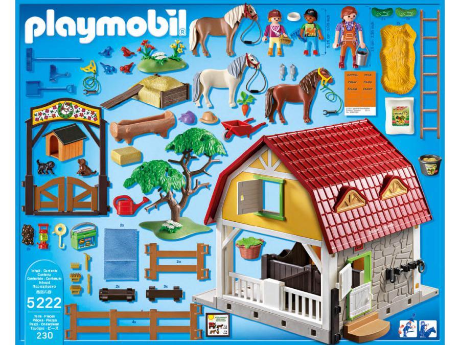 Playmobil ranch avec poneys - Playmobil haras ...