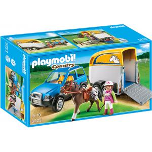 Playmobil - 5223 - Voiture avec remorque et cheval (176775)