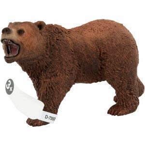 Schleich - 14685 - Figurine Ours Grizzly - Dimension : 11 cm x 4,5 cm x 6,5 cm (177007)