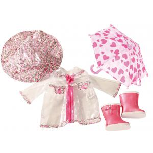 Gotz - 3402190 - Manteau de pluie, chapeau, chaussures, parapluie pour poupées de 42-46cm, 45-50cm (179971)