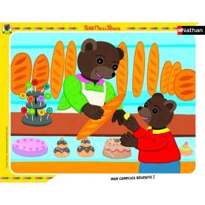 Nathan puzzles - 86105 - Puzzle cadres 35 pièces - Petit Ours Brun à la boulangerie (180072)