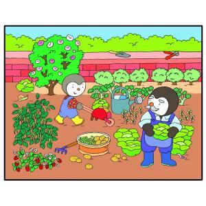 Nathan puzzles - 86325 - Puzzle 30 pièces - T'choupi au potager (180084)