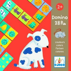 Djeco - DJ08111 - Jeux éducatifs domino animaux couleurs (1815)