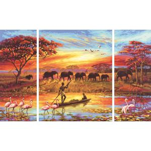 Schipper - 609260627 - Peinture aux numeros - Afrique - le charme d'un continent - Cadre 50 x 80 cm (180193)
