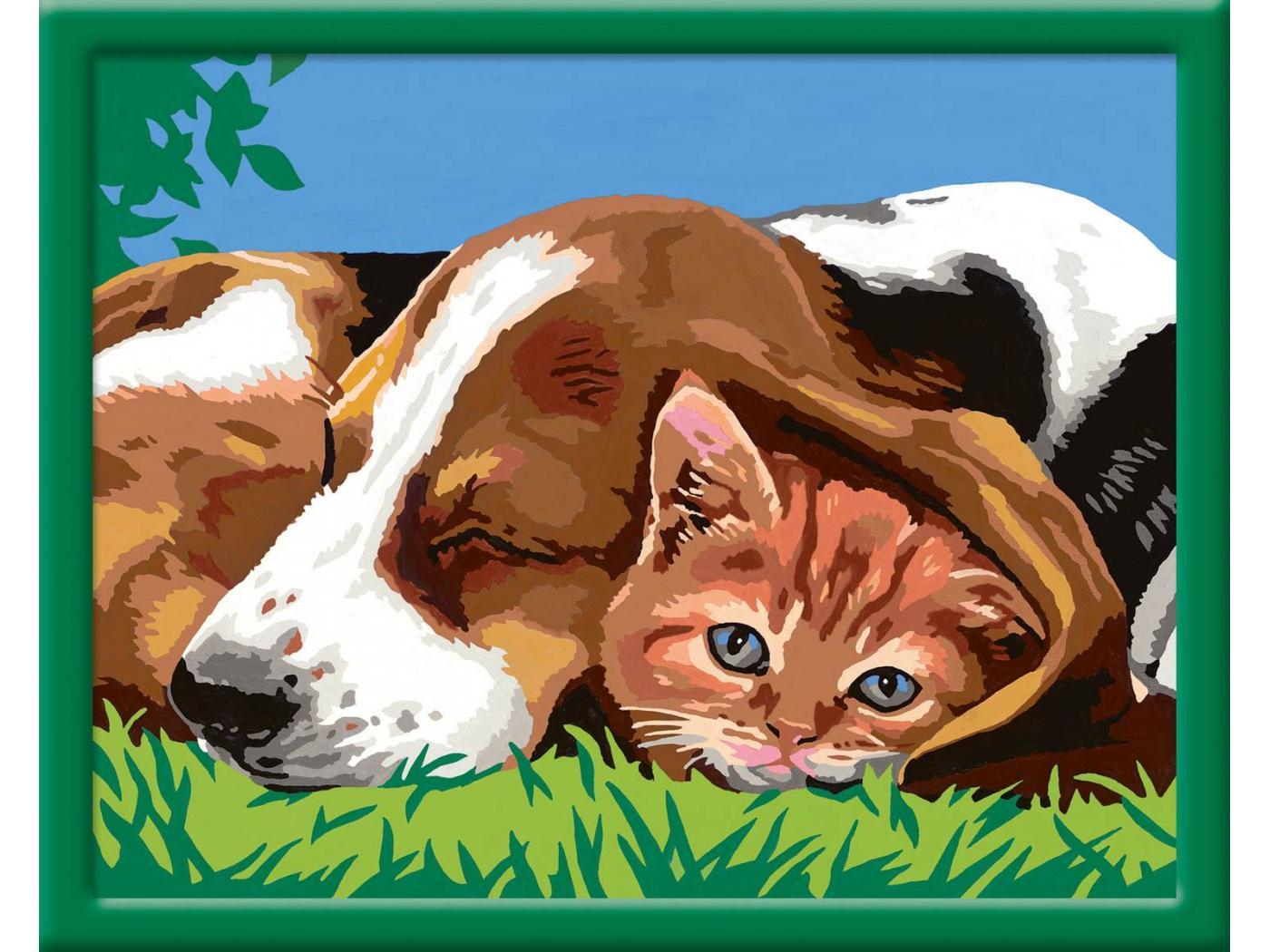 Ravensburger num ro d 39 art grand format comme chien et chat - Photo d art grand format ...