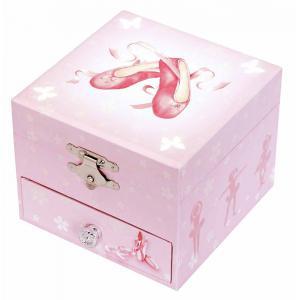 Trousselier - S20975 - Coffret Musique Cube Chaussons Ballerine - Rose - Figurine Ballerine (183249)