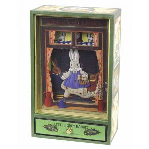 Trousselier - S43860 - Grand Dancing Musical Little Grey Rabbit© - Vert (183325)