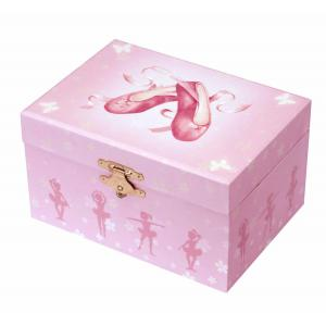 Trousselier - S50975 - Coffret Musical Phosphorescent Chaussons Ballerine - Rose (183361)