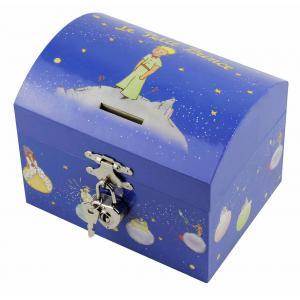 Trousselier - S83230 - Tirelire à Musique Le Petit Prince© Etoiles - Bleu - Figurine Petit Prince (183485)