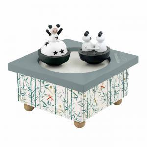 Trousselier - S95012 - Boite à Musique Dancing Fille & Panda (183563)