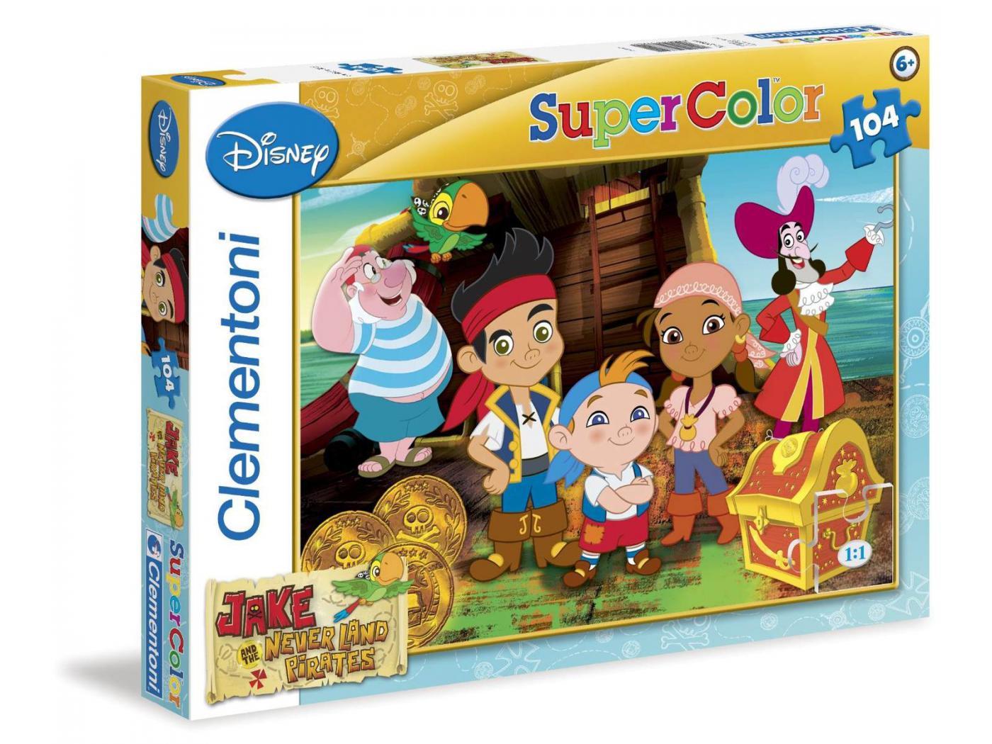Clementoni puzzle super color 104 pi ces jack le pirate - Jeux de jack et les pirates ...
