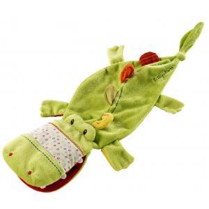 Lilliputiens - 86221 - Doudou marionnette Théophile  le crocodile (187489)