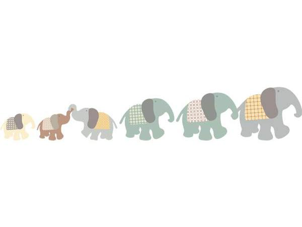 Art for kids frise famille l phant for Stickers elephant chambre bebe
