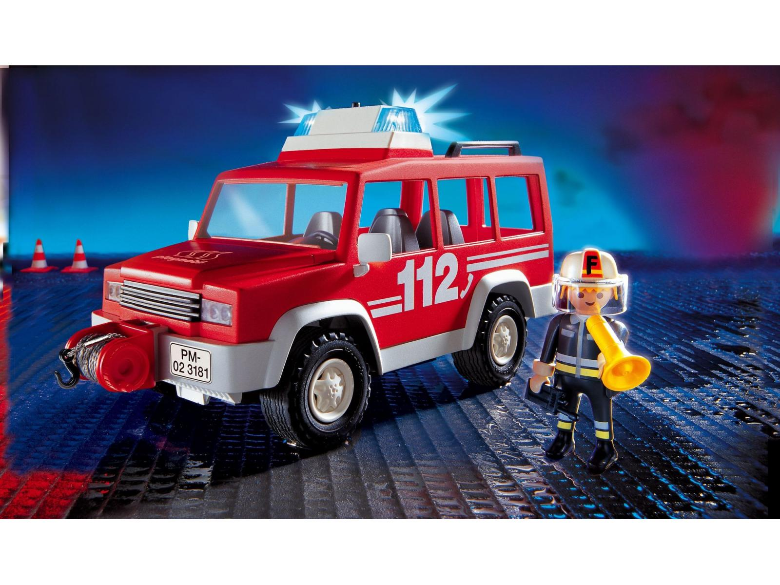 Playmobil pompier 4x4 d 39 intervention - Playmobil pompiers ...