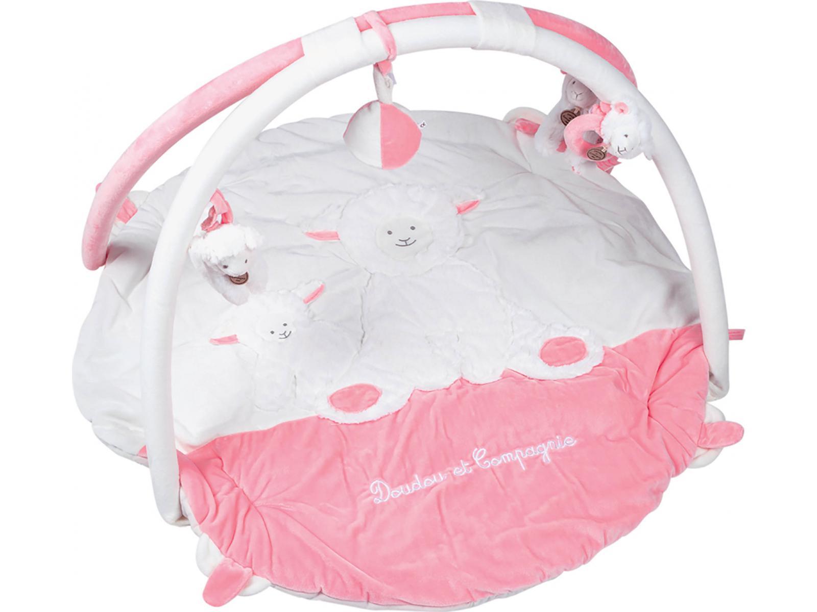 doudou et compagnie tapis d 39 veil agneau rose cm. Black Bedroom Furniture Sets. Home Design Ideas