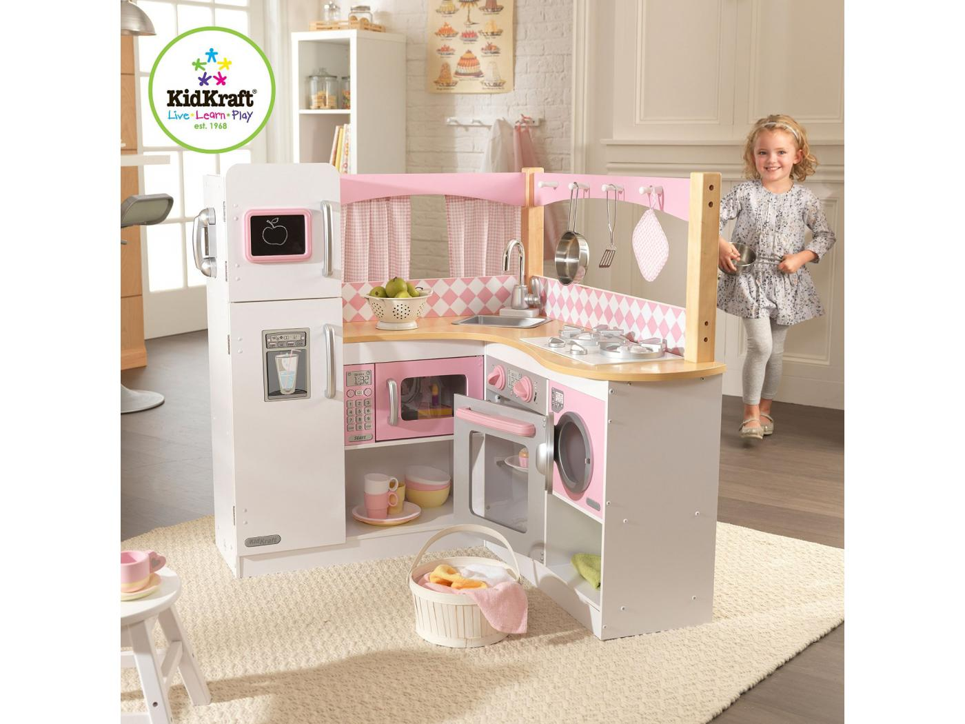 kidkraft batterie de cuisine pastel de 27 pi ces. Black Bedroom Furniture Sets. Home Design Ideas