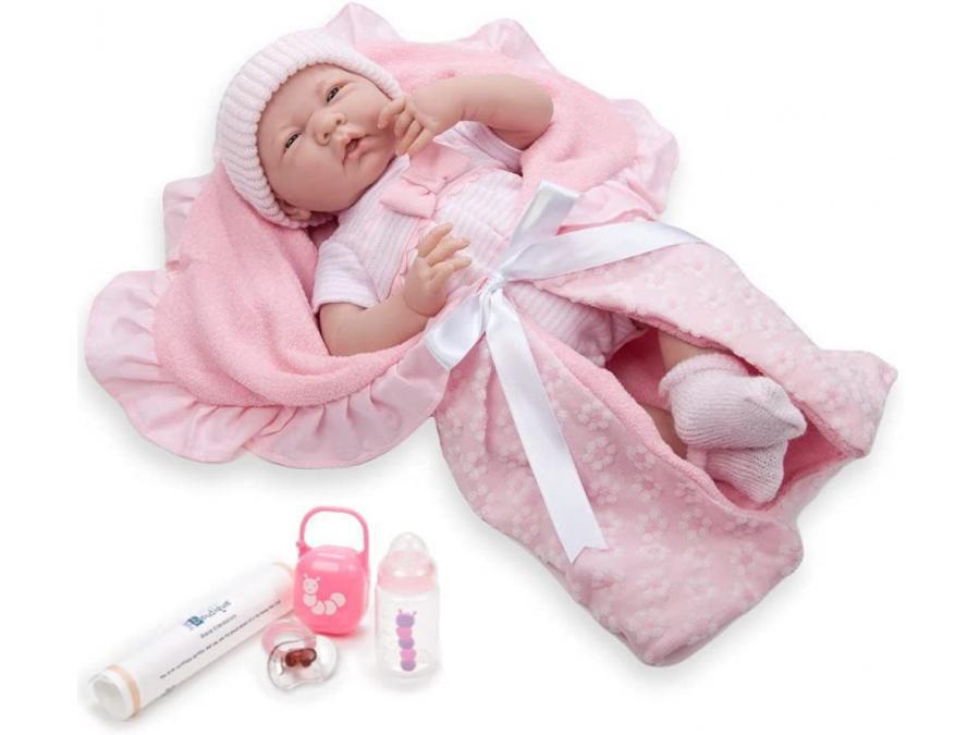 Berenguer , 18780 , Poupon Newborn nouveau né avec accessoires roses 39 cm