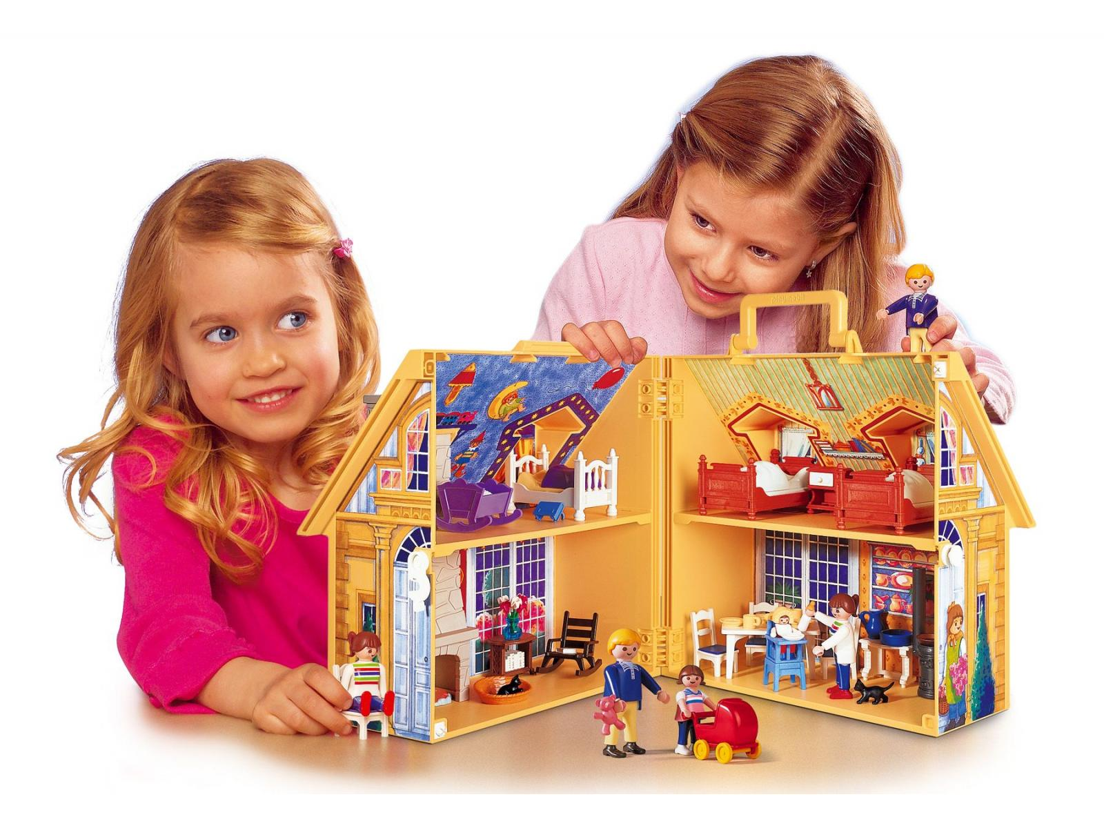 playmobil maison de famille transportable. Black Bedroom Furniture Sets. Home Design Ideas