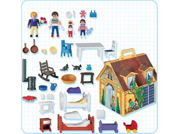 Playmobil maison de famille transportable for Maison transportable